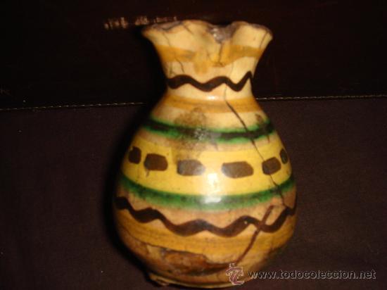 Antigüedades: BONITA Y ANTIQUISIMA JARRA PEQUEÑA. CERAMICA PUENTE DEL ARZOBISPO. ORIGINAL DECORADO. - Foto 4 - 35879465
