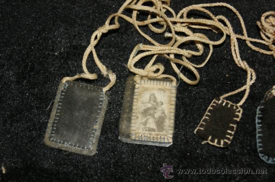 Antigüedades: Lote antiguos escapularios - Foto 2 - 36005010