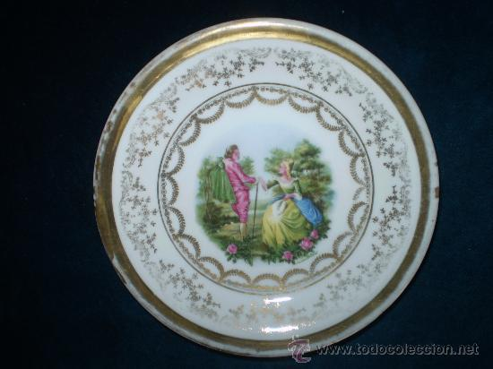 PLATO DE PORCELANA DE SANTA CLARA VIGO-MAM (Antigüedades - Porcelanas y Cerámicas - Santa Clara)