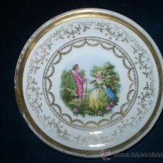 Antigüedades: PLATO DE PORCELANA DE SANTA CLARA VIGO-MAM. Lote 35891981