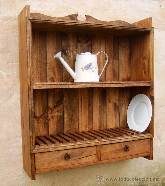 Platero de madera maciza rustico mueble de 80 comprar - Muebles de madera antiguos ...