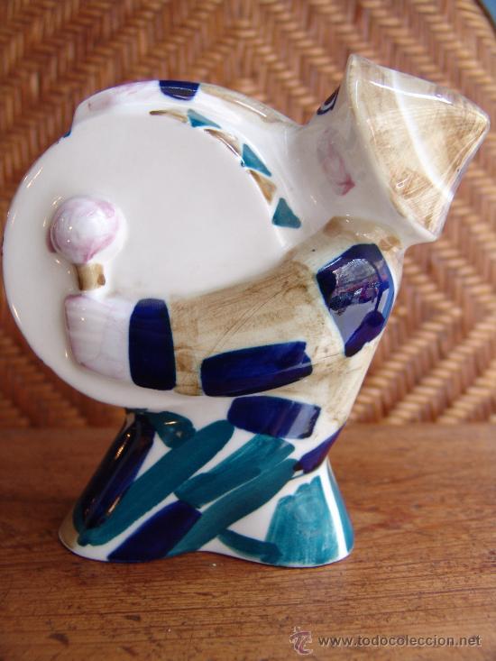 PRECIOSA FIGURA HOMBRE-BOMBO DE CERÁMICA SARGADELOS VINTAGE (Antigüedades - Porcelanas y Cerámicas - Sargadelos)