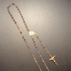 Antigüedades: ROSARIO CUENTAS CRISTAL ROSA. Lote 35925994