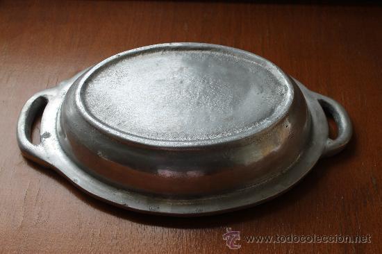 Antigüedades: FRUTERO EN PEWTER CON BONITOS RELIVES - Foto 2 - 35928628