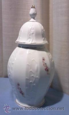 JARON DE PORCELANA CON TAPA , SELLO CISTERCIENSES DE LA PALMA-CARTAGENA (Antigüedades - Porcelanas y Cerámicas - Cartagena)