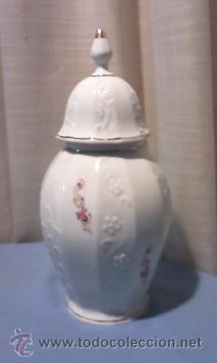 Antigüedades: JARON DE PORCELANA CON TAPA , SELLO CISTERCIENSES DE LA PALMA-CARTAGENA - Foto 2 - 35939150
