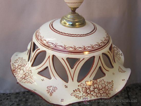 Lampara de techo en ceramica de talavera comprar - Lamparas de ceramica ...