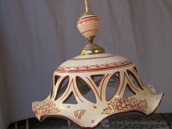 Lampara de techo en ceramica de talavera comprar for Lamparas de ceramica