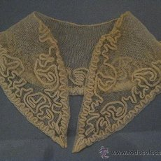Antigüedades: ANTIGUO CUELLO DE ENCAJE S. XIX. Lote 35955519