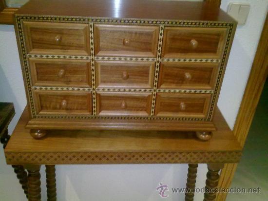 BARGUEÑO DE NOGAL (Antigüedades - Muebles Antiguos - Bargueños Antiguos)