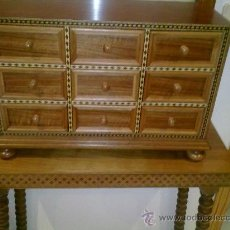 Antigüedades: BARGUEÑO DE NOGAL. Lote 35363798