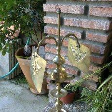 Antigüedades: LAMPARA DE BRONCE. Lote 35960749