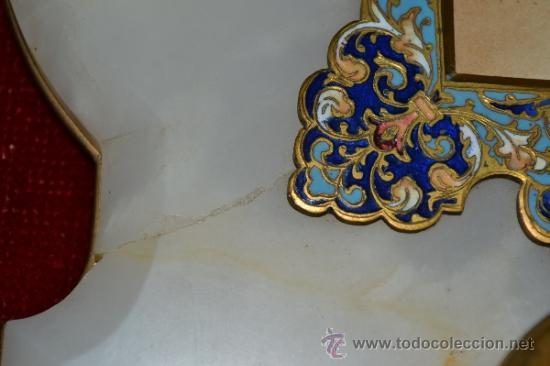 Antigüedades: EXCEPCIONAL PILA BENDITERA EN ESMALTE CLOISONNE Y PRECIOSA PINTURA EN PLACA DE PORCELANA,S.XIX - Foto 11 - 35961525