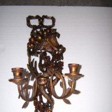 Antiquités: APLIQUE O LAMPARA MADERA. Lote 35973792
