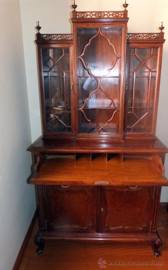 Antiguo mueble vitrina escritorio secreter comprar muebles auxiliares antiguos en - Mueble secreter ...