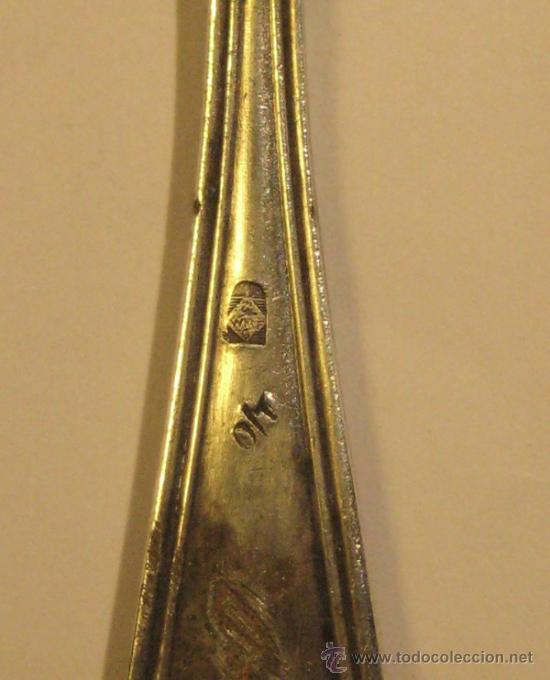 Antigüedades: CUCHARA PIMIENTA. PLATA. LARGO 6 CM. PESO 6 GR. CON MARCAS - Foto 4 - 36014834