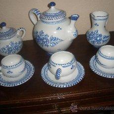 Antigüedades: JUEGO CAFE CERÁMICA PUENTE ARZOBISPO SEIS SERVICIOS AÑOS 60 -70. Lote 36052991
