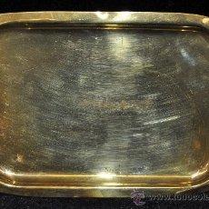Antigüedades: BANDEJA LITÚRGICA EN METAL DORADO. CIRCA 1940. Lote 36058695