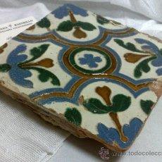 Antigüedades: ANTIGUO AZULEJO DE COLECCIÓN. ANTIGUO AZULEJO DE COLECCIÓN. . Lote 36065352