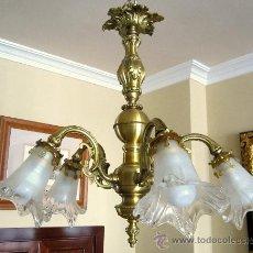 Antigüedades: PRECIOSA LAMPARA DE TECHO. Lote 36085660