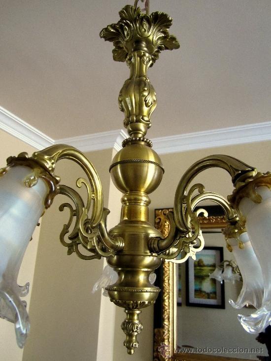Antigüedades: PRECIOSA LAMPARA DE TECHO - Foto 2 - 36085660