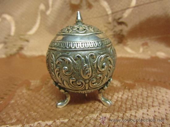 Antigüedades: Magnífico salero en plata de ley de principios de siglo XX - Foto 2 - 36094040