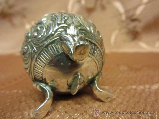 Antigüedades: Magnífico salero en plata de ley de principios de siglo XX - Foto 3 - 36094040