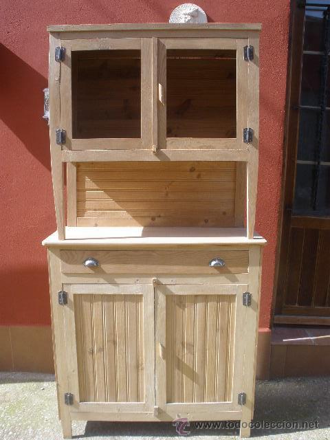 Rustica alacena de pino y chopo perfecta para comprar - Precio muebles antiguos ...