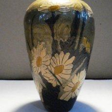 Antigüedades: JARRON METALICO ESMALTADO - CLOISONNE -. Lote 36113825