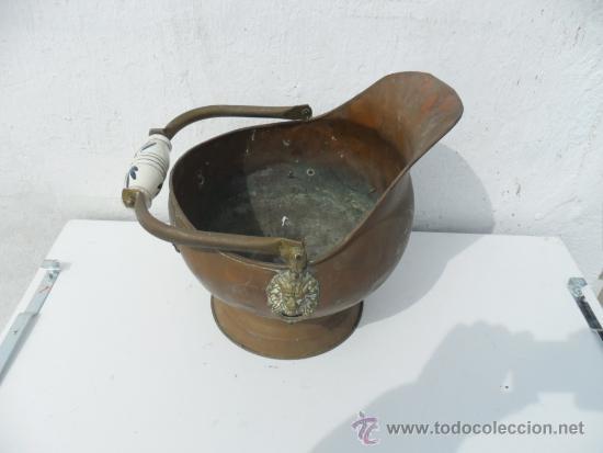 CACHARRO PARA CHIMENEA DE COBRE (Antigüedades - Técnicas - Rústicas - Utensilios del Hogar)