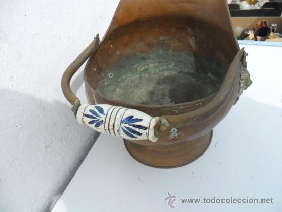Antigüedades: cacharro para chimenea de cobre - Foto 3 - 36142189
