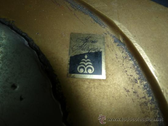 """Antigüedades: bandeja salvamantel de bronce """"alfonso marquez"""" - Foto 7 - 36150100"""