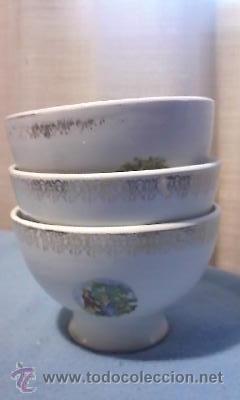 LOTE DE 3 ANTIGUOS BOLES DE LA CARTUJA PICKMAN. (Antigüedades - Porcelanas y Cerámicas - La Cartuja Pickman)