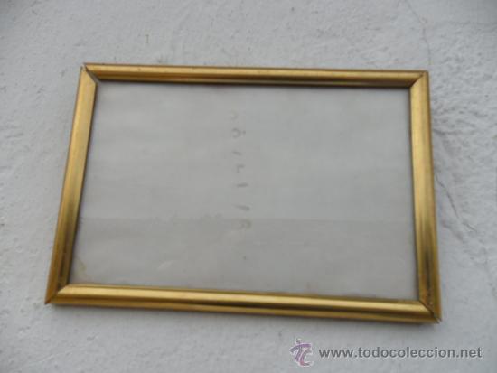 PORTAFOTO DORADO (Antigüedades - Hogar y Decoración - Portafotos Antiguos)
