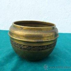 Antigüedades: MACETA DE METAL. Lote 36163757