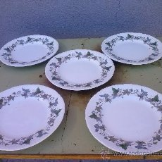 Antigüedades: PRECIOSOS 5 PLATOS ROYAL CHINA VIDO DE POSTRE.. Lote 36163782