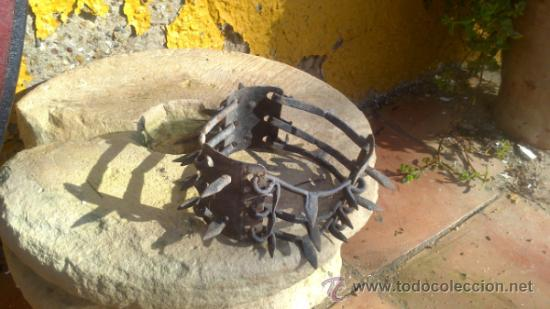 MUY ANTIGUO COLLAR DE PERRO DE FORJA SIGLO XVIII-XIX (Antigüedades - Técnicas - Rústicas - Ganadería)