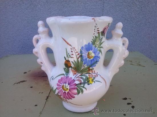 JARRA DE NOVIA DE LARIO, PINTADA A MANO (Antigüedades - Porcelanas y Cerámicas - Lario)