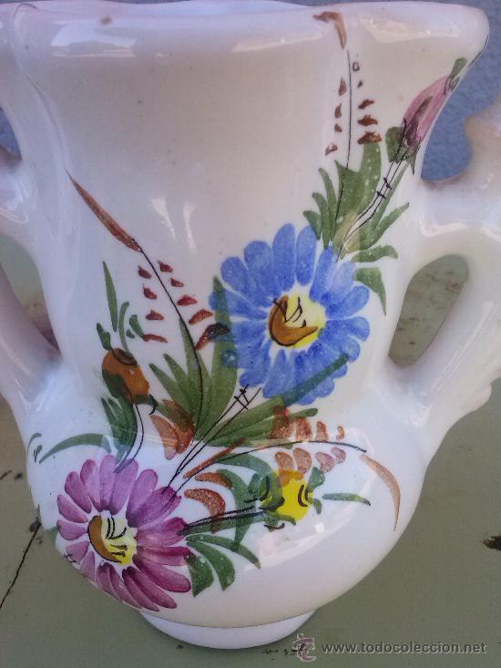 Antigüedades: jarra de novia de lario, pintada a mano - Foto 2 - 36169098