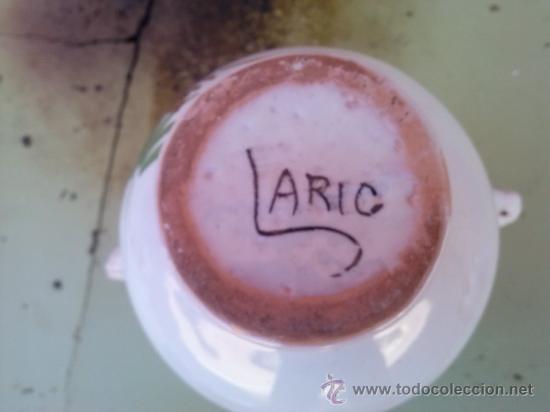 Antigüedades: jarra de novia de lario, pintada a mano - Foto 3 - 36169098