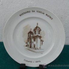 Antigüedades: PLATO DE PORCELANA VISTAALEGRE. Lote 36176886