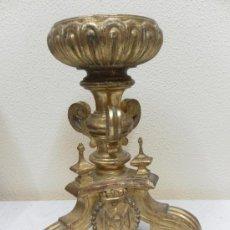 Antigüedades: COPON ,COPA,CANDELABRO O VELÓN. MADERA DORADA Y POLICROMADA. SIGLO XVIII - XIX.. Lote 36181178