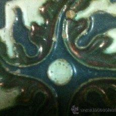 Antigüedades: PRECIOSA PAREJA DE AZULEJOS DE TRIANA SIGLO XVI AZULEJO SEVILLA SEVILLANOS.. Lote 37141316