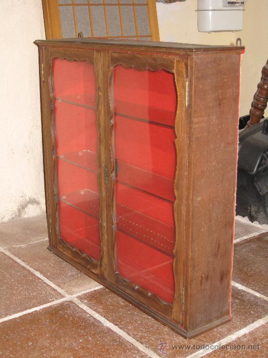Peque a vitrina antigua para colgar comprar vitrinas - Vitrinas para colgar ...