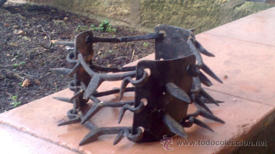 Antigüedades: muy antiguo collar de perro de forja siglo XVIII-XIX - Foto 3 - 36168795