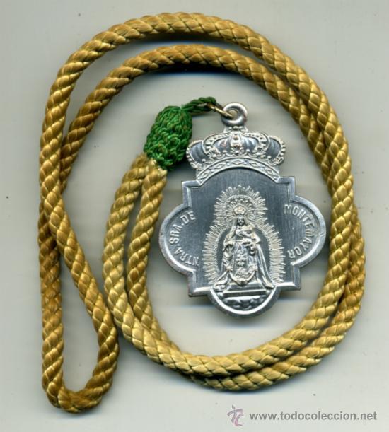 MEDALLA ORIGINAL HERMANDAD DE MONTEMAYOR DE MOGUER-HUELVA (Antigüedades - Religiosas - Medallas Antiguas)