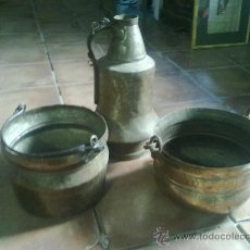 Antigüedades: CAZOS DE COBRE. Lote 36255312