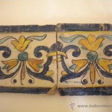 Antigüedades: PAREJA DE AZULEJOS DE TRIANA XVII. Lote 36269261