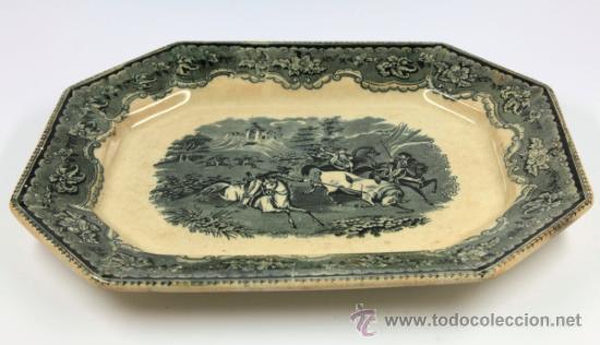 FUENTE DE CARTAGENA SIGLO XIX, 29X38 CM. (Antigüedades - Porcelanas y Cerámicas - Cartagena)