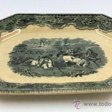 Antigüedades: FUENTE DE CARTAGENA SIGLO XIX, 29X38 CM. . Lote 36286091